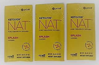 Pruvit Keto//OS NAT Splash Pure Therapeutic Keytones 3pk