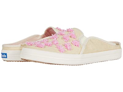 Keds x kate spade new york Double Decker Mule Pom-Pom Raffia (Natural/Pink Raffia) Women