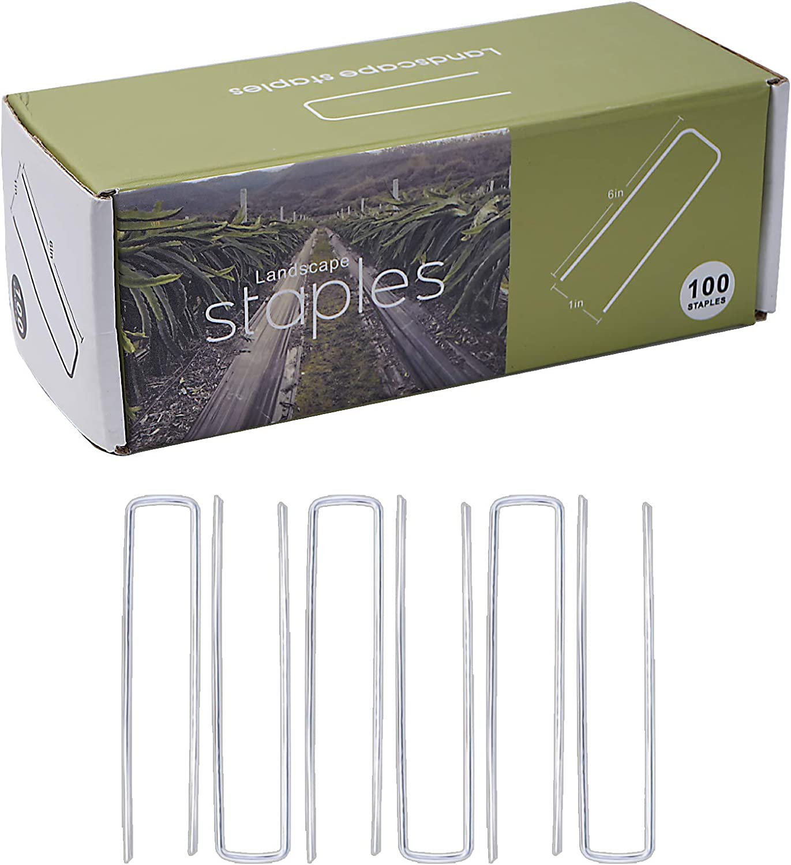 SWITALO Landscape Staples 6 Inch 11 Gauge Garden Pins 100 Pack