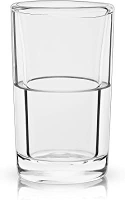 Viski Raye Double Walled Chilling Shot Glasses, 3oz