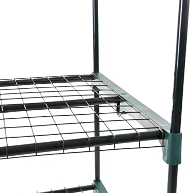 Pure Garden 4-Tier Greenhouse – Outdoor Gardening Hot House with Zippered Cover and Metal Shelves for Growing Vegetables, Flo