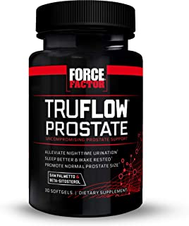 Force Factor TruFlow Prostate Health Support Supplement for Men with Beta Sitosterol, Saw Palmetto, and Melatonin to Impro...