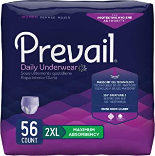 Prevail Prevail Maximum Absorbency Incontinence Underwear for Women 2X-Large 56 Ct, 56count