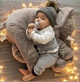 Almohada de elefante bebé de 80 cm, cojín de elefante pequeño confiable y lindo, juguete de elefante divertido para niños, cojín suave para dormir