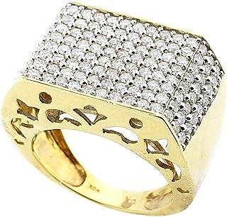 9959821080dd48 MidwestJewellery.com - Anello da uomo in oro giallo 10 kt, 18 mm di