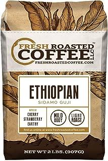 Fresh Roasted Coffee LLC, Ethiopian Sidamo Guji Coffee, Light Roast, Single Origin, Whole Bean, 2 Pound Bag