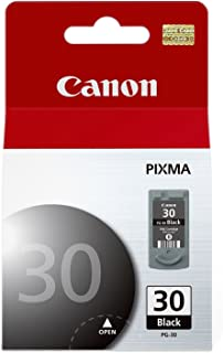 Canon PG-30 Black Ink Cartridge (1899B002), Black in Retail Packing