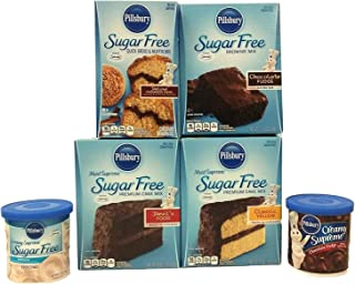 Pillsbury Sugar Free Cake Mix and Frosting Bundle. Everything Needed To Get A Sugar Free Party Started