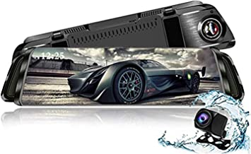 TekBow Auto Camera Dash cam 9.66 Inch Full HD Front 1080P and Rear 1080P Media Screen with Bracket, 170°Wide-Angle Lens and Rearcam, Parking Monitor (T10)