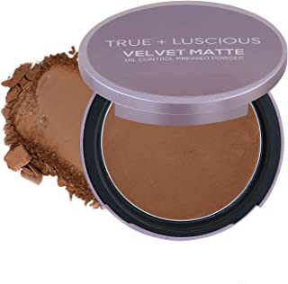 Sponsored Ad - True + Luscious Velvet Matte Oil-Control Face Powder Compact - Vegan, Cruelty Free, Paraben Free. Multi-use...