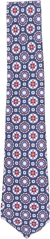 Kiton Napoli Men's Geometric Circle Pattern Silk Necktie