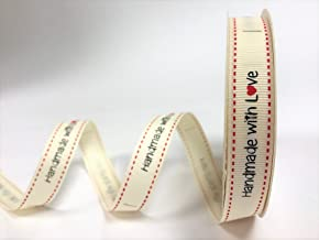 Handmade with love UK ribbon 15mm wide grosgrain