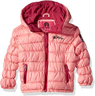 Weatherproof Baby Girls Quilted Jacket with Sherpa Lining