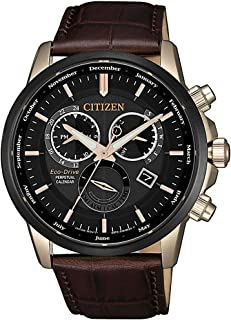 CITIZEN Mens Solar Powered Watch, Analog Display and Leather Strap - BL8156-12E
