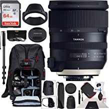 Tamron SP 24-70mm f/2.8 Di VC USD G2 Lens for Canon EF Mount AFA032C-700 with 82mm Deluxe Filter Kit and Deco Gear Photography Backpack Pro Bundle