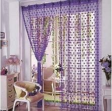 Geo Nature Polyester Eyelet Door Curtain (7 Feet, Purple) -2 Piece