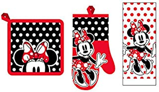 3 Piece Kitchen Set Minnie Mouse Rock The Dots Towel