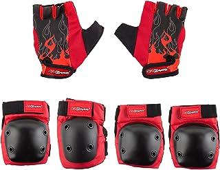 Kidzamo Protective Elbow/Knee Pad & Glove Set in Red