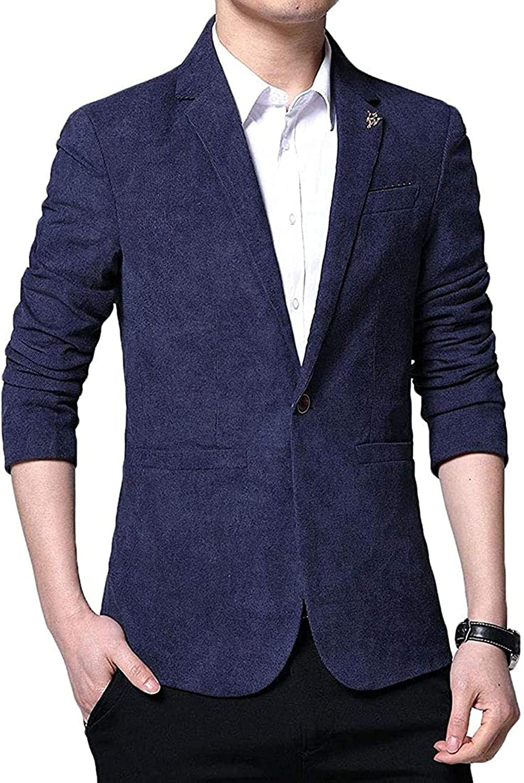 Men's Hipster One Button Notch Lapel Slim Fit Blazer Jacket Sport Coat