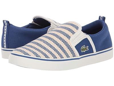 Lacoste Kids Gazon 119 1 CUC (Little Kid) (Blue/Off-White) Kid
