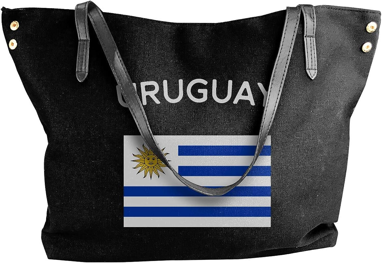 Uruguay Flag Women'S Recreation Canvas Sling Bag For Travel Shoulder Tote