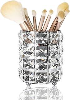 DARUITE Cristal Porte-pinceaux de Maquillage cosmétiques Organisateur Makeup Organizer Salle de Bain Pot à Pinceau Maquill...