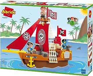 Jouets Ecoiffier -3023 - Bateau pirate Abrick – Jeu de construction pour enfants – Dès 18 mois – Fabriqué en France