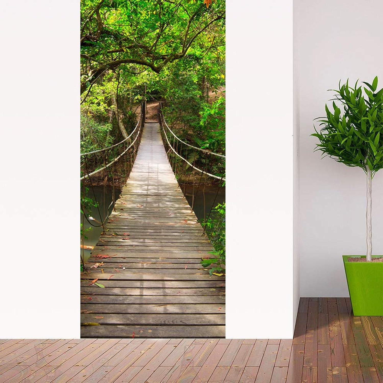 YuYa Kreative Landschaftsschönheitskarte Selbstklebende Türaufkleber-Wandaufkleber- K5 B07Q4W5SXL | Hohe Qualität und günstig