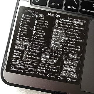SYNERLOGIC (M1+Intel) Mac OS (Big Sur/Catalina/Mojave) Reference Keyboard Shortcut Sticker - Black Matte Vinyl, No-Residue...