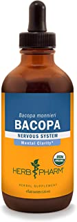 Herb Pharm Certified Organic Bacopa Liquid Extract for Brain Support - 4 Ounce