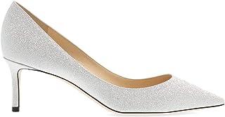 JIMMY CHOO Luxury Fashion Womens ROMY60XGCSILVER Silver Pumps | Fall Winter 19