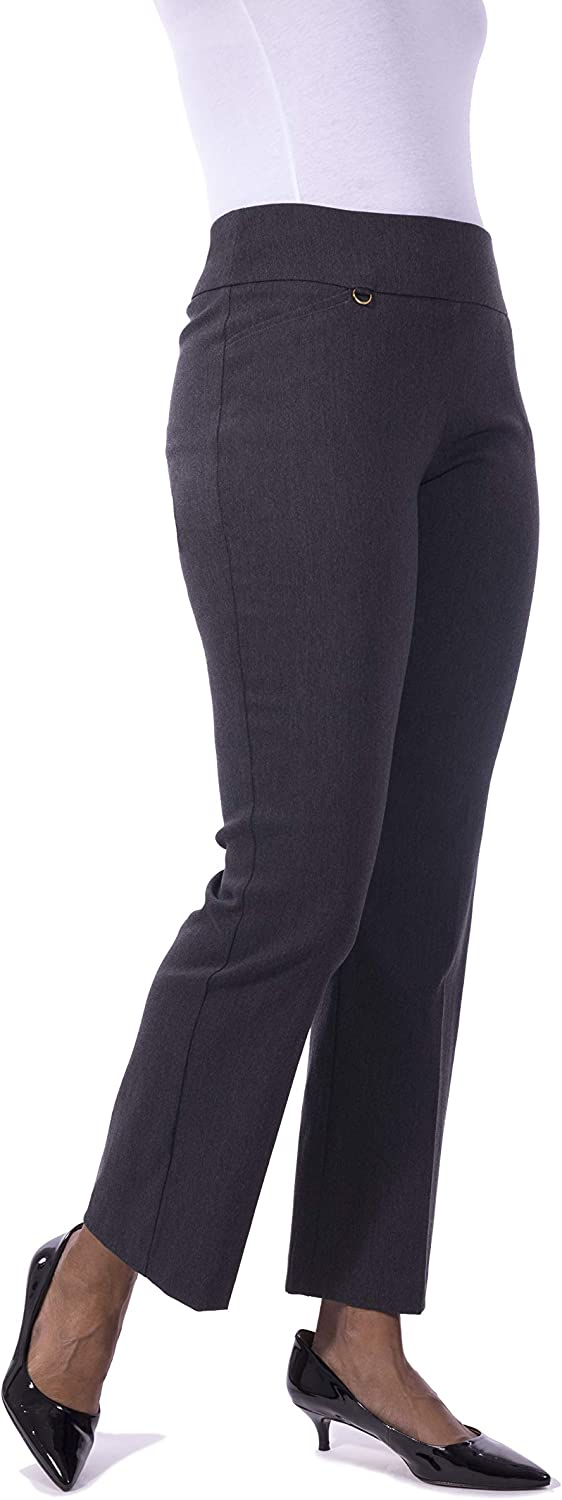 Fundamental Things Women's Barely Bootcut Pant, Pullon Tummy Control; Super Stretch Charm Detail