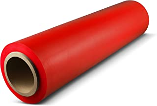 Red Color Hand Bundling Stretch Wrap Plastic Film 18