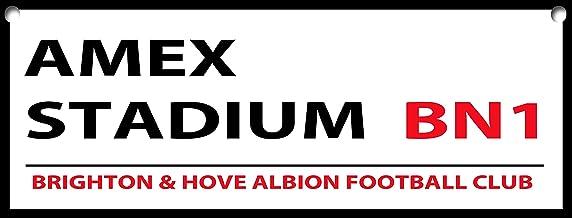 Brighton & Hove Albion Football Club Street Sign/imán para Nevera, Aluminio, 8 x 3, Placa de Pared/imán 1089, Señal metálica con Agujeros, 8