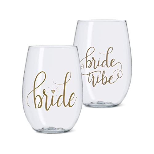 Bridal Shower Glasses Amazon Com