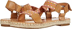 Peach Multi Waxed Leather/Multi Zig Webbing
