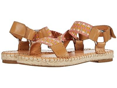 FRYE AND CO. Kole Asymmetrical Sandal (Peach Multi Waxed Leather/Multi Zig Webbing) Women