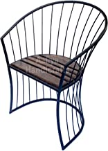 Aafiya Handicrafts Solid Beautiful Wooden & Wrought Iron Living Room Chair