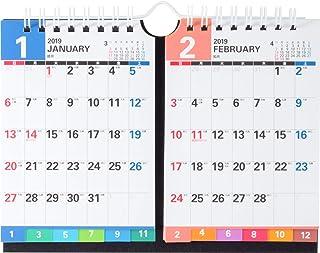 高桥 2019年 日历 桌上 多月一览 2ヶ月一覧1