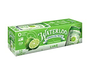 Waterloo Sparkling Water Lime Flavor Zero Calorie No Sugar 12oz Cans (Pack of 12), Fruit Flavored Sp