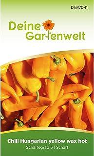 Chili Hungaria yellow wax hot | Samen für scharfe Chilis | Chilisamen | Saatgut für ungarische Chilis