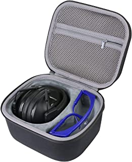 co2CREA hard carrying storage hard case fits ACT FIRE Electronic Shooting Hunting Ear Protection with Safety Glasses