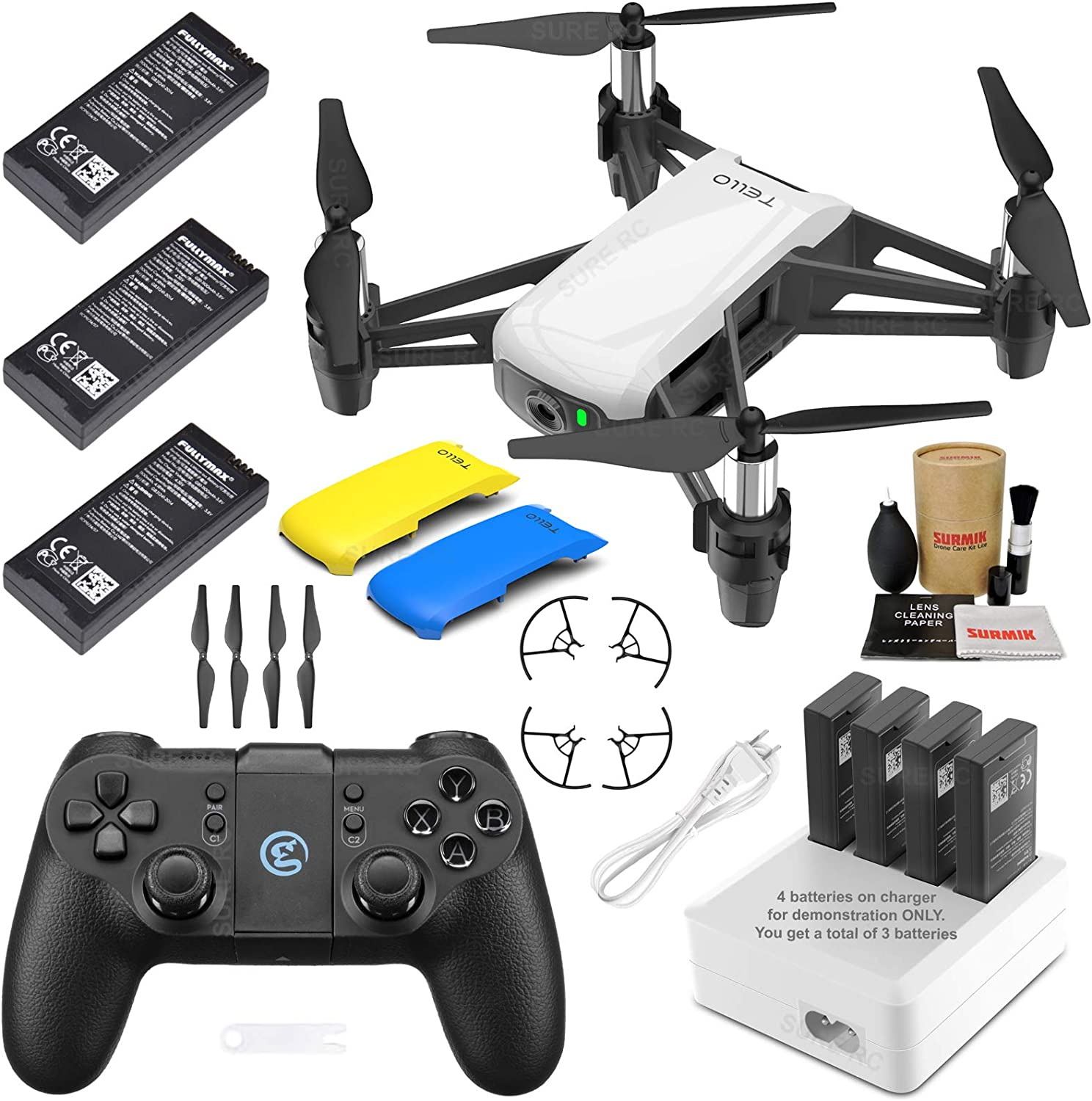 Tello Drone Quadcopter Quadcopter Quadcopter Elite Max Combo with 3