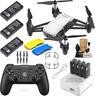 Tello Drone Quadcopter Elite Max Combo with 3 Batteries, GameSir T1D Remote Controller, 4 Port Charger, and More