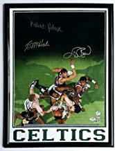 Larry Bird Robert Parish Kevin McHale Autographed Signed 16x20 Boston Celtics PSA DNA
