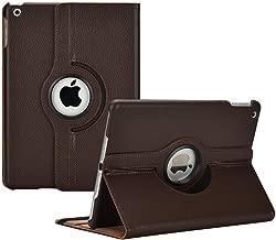 RKINC Case for Ipad Mini 1/2/ 3, 360 Degree Rotating Stand Case Cover with Auto Sleep/Wake Function for Apple Ipad Mini 1, Mini 2, Mini 3(Brown)