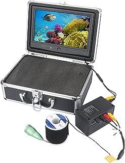 GRXXX Pescado bajo el Agua Finder HD cámara bajo el Agua 10 Pulgadas LCD Pantalla IP68 Impermeable 1000TVL Cámara de Pesca...