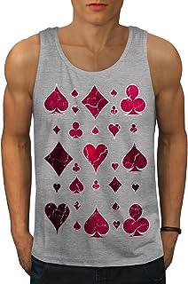 Wellcoda 遊びます カード 賭け カジノ 男性用 S-2XL タンクトップ