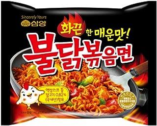 Samyang Buldak Chicken Stir Fried Ramen Korean Ramen (Original, 3 Pack)