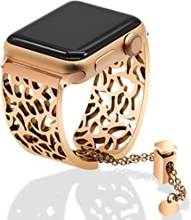 3d0e31a4a For Apple Watch Band 38mm Women Ladies, TRUMiRR Jewelry Watchband Metal  Stainless Steel Wrist Strap